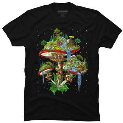 Magic Mushrooms Island Mens Graphic T-Shirt - Design By Humans