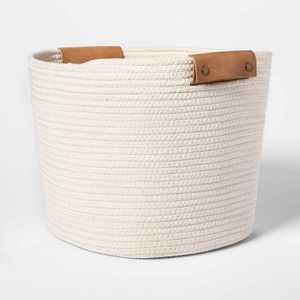 """13"""" Decorative Coiled Rope Basket - Threshold"""