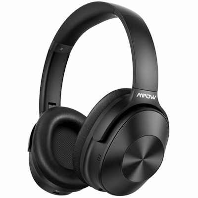 Mpow H12 Over the Ear Headphones with Hyb Active Noise Cancellation Bluetooth 5.0 With HiFi Sound Deep Bass 30H Playtime - MPBH366AB - Black