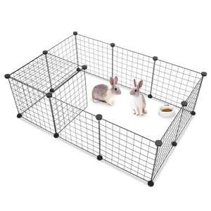 Ktaxon 14''L Pet Playpen Includes Cable Ties, Upgrade Customizable Animal Fence
