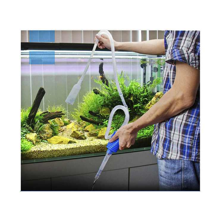 Jeobest 1PC Aquarium Vacuum Gravel Cleaner - Aquarium Gravel Cleaner - Aquarium Gravel Vacuum Pump - Aquarium Water Filter Tool Fish Tank Gravel Vacuum Cleaning Cleaner Siphon Pump MZ