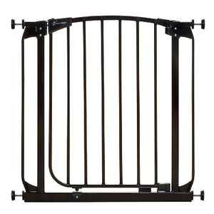 Dreambaby F160B Chelsea 28 to 32 Inch Auto-Close Baby & Pet Wall to Wall Safety Gate with Stay Open Feature for Doors, Stairs, and Hallways, Black