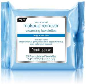 Neutrogena Make-Up Remover Cleansing Towelette, Fragrance-Free 25 ea (Pack of 4)
