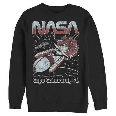 Men's NASA Cape Canaveral FL Blast Off Retro Sweatshirt