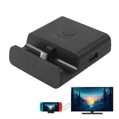 Insten TV Dock For Nintendo Switch and OLED Model, 4K HDMI Docking Station Portable Charging Adapter Stand With Extra USB 3.0 2.0 Port