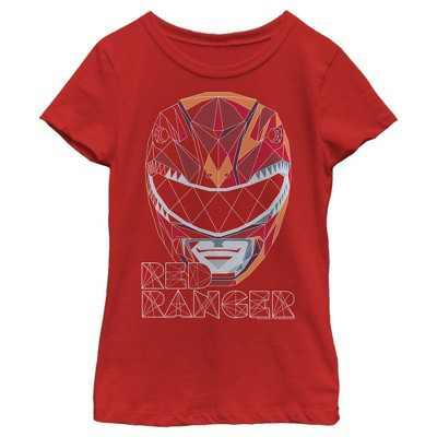 Girl's Power Rangers Geometric Ranger T-Shirt
