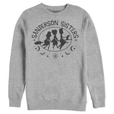 Men's Disney Hocus Pocus Sanderson Sisters Broom Silhouette Sweatshirt