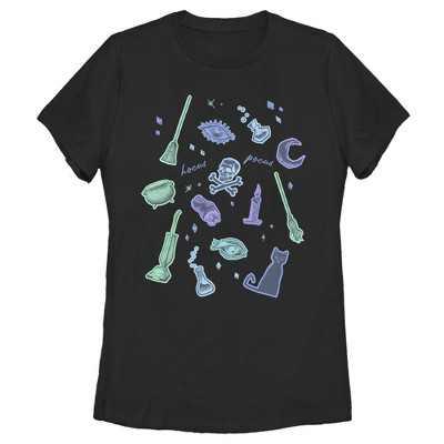 Women's Disney Hocus Pocus Spooky Symbols T-Shirt