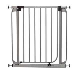 Dreambaby L894S Dawson 28 to 32 Inch Baby & Pet Wall to Wall Auto-Close Safety Security Gate w/Stay Open Feature for Doors, Stairs, & Hallways, Silver
