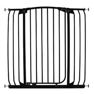"""Dreambaby F191B Chelsea Extra Tall 38 to 42.5"""" Auto-Close Baby Pet Wall to Wall Safety Gate w/ Stay Open Feature for Doors, Stairs & Hallways, Black"""