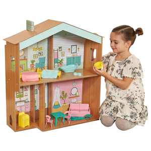 KidKraft Designed by Me: Color Decor Wooden Dollhouse with 20 Pieces