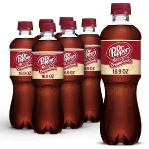 Dr Pepper & Cream Soda, .5 L bottles, 6 pack