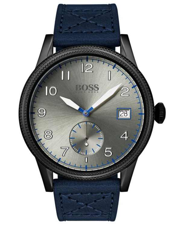 Men's Legacy Blue Leather Strap Watch 44mm