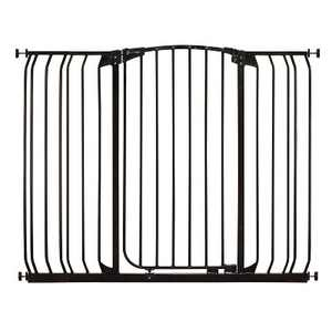 Dreambaby L792B Chelsea 38 to 53 Inch Extra Tall & Wide Baby & Pet Auto-Close Safety Security Gate with Stay Open Feature & 2 Extension Panels, Black