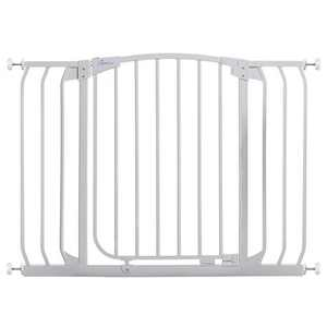 Dreambaby F170W Chelsea 38 to 42.5 Inch Auto-Close Baby & Pet Wall to Wall Safety Gate with Stay Open Feature for Doors, Stairs, and Hallways, White