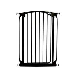Dreambaby F190B Chelsea Extra Tall 28 to 32 Inch Auto-Close Baby Pet Wall to Wall Safety Gate w/ Stay Open Feature for Doors, Stairs & Hallways, Black