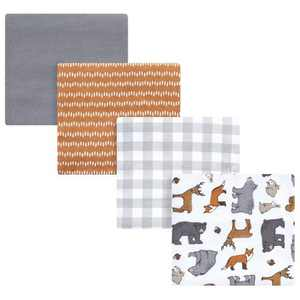 Hudson Baby Unisex Baby Cotton Flannel Receiving Blankets, Rustic Woodland, One Size