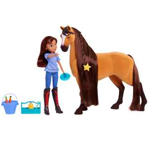 Spirit Riding Free Deluxe 14-inch Spirit Horse and 11.5-inch Lucky Fashion Doll, Preschool Ages 3 up by Just Play
