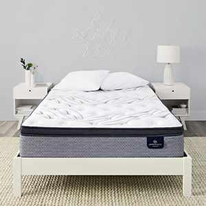 """Perfect Sleeper Kleinmon II 13.75"""" Plush Pillow Top Mattress Set - Twin"""