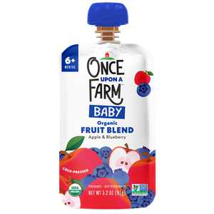 Once Upon a Farm Organic Baby Food, Apple Blueberry, 3.2 oz Pouch