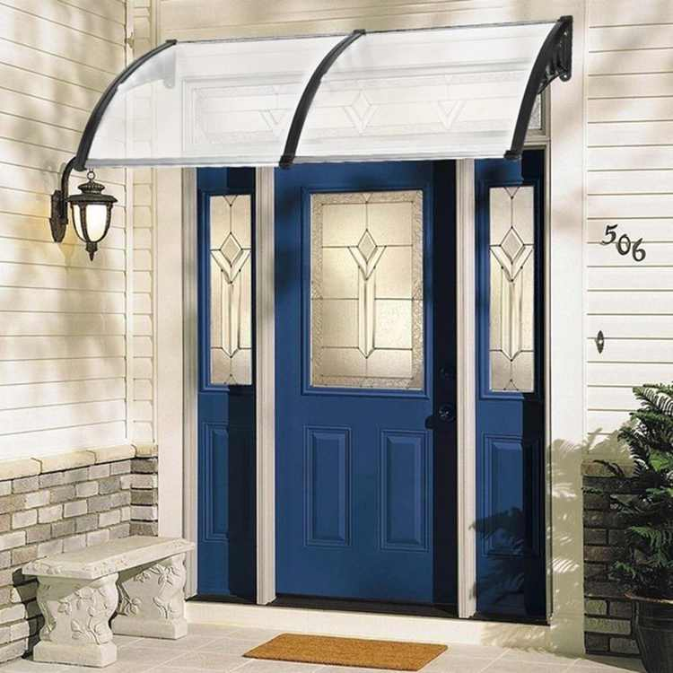 """Ktaxon 35.4""""x 77"""" Door Window Outdoor Awning Canopy Patio Cover Polycarbonate"""