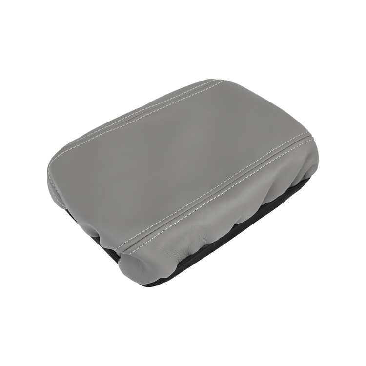 Microfiber Leather Center Console Lid Box Armrest Cover Protector Gray with Elastic for Honda Civic 2006-2011