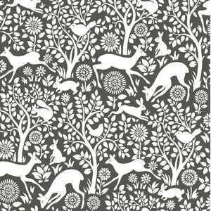NuWallpaper Charcoal Merriment Peel & Stick Wallpaper