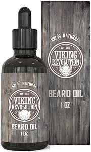 Viking Revolution Beard Oil Conditioner - All Natural Unscented Organic Beard and Mustache Oil