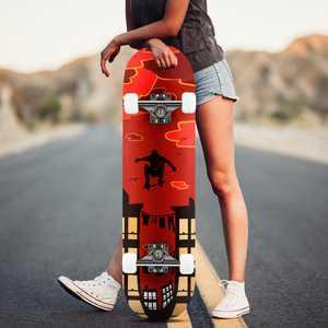 """31""""  PU wheels Longboard Complete Deck Skateboard,PRO Print Wood board HITC"""