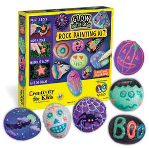 Creativity for Kids Glow in the Dark Rock Painting Kit - Child Craft Project for Boys and Girls