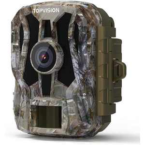 TopVision Mini Game Camera, 20MP 1080P HD Trail Camera with Night Vision, Wildlife Waterproof Hunting Camera Wildgame