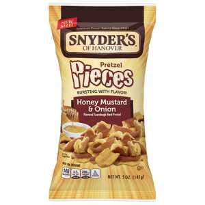 Snyder's of Hanover Pretzel Pieces, Honey Mustard & Onion, 5 oz