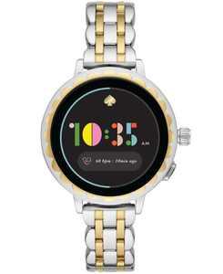 Women's Scallop 2 Two-Tone Stainless Steel Bracelet Smart Watch 41mm, Powered by Wear OS by Google
