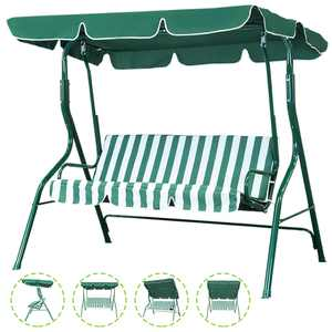 SKONYON Outdoor Patio Swing Chair, Canopy Swing with Removable Cushion and Weather Resistant Powder Coated Steel Frame, Suitable for Patio, Garden, Poolside, Balcony, Backyard