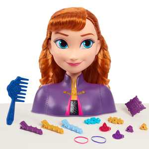 Just Play Disney's Frozen 2 Anna Styling Head, 14-pieces, Preschool Ages 3 up