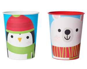 American Greetings Christmas Party Supplies, Polar Bear and Penguin Cups (8-Count)