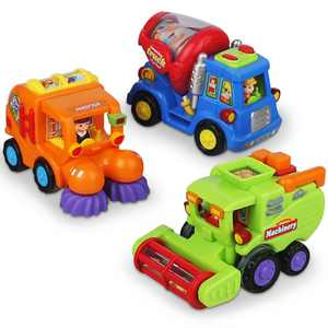 CifToys Friction Powered Push and Go Construction Truck Vehicle Playset (3 Pieces)