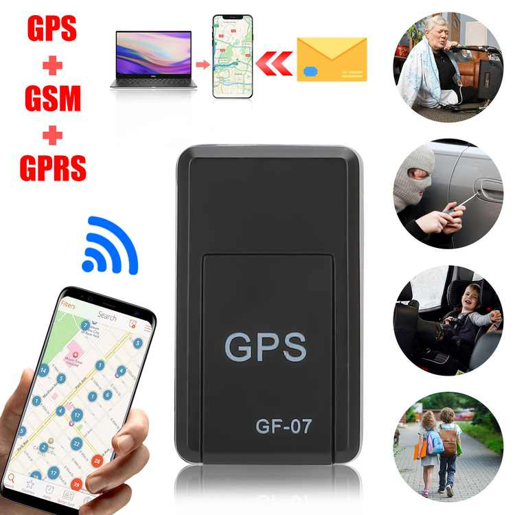 TSV Magnetic GPS Locator, Mini GPS Location Tracker Real-time Position Tracking Device Lightweight and Portable, Waterproof Worldwide GPS Tracking Device for Vehicle, Kid, Elderly, Pet
