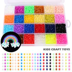 HOTBEST 13000pcs 24 Colors Fuse Beads Kit Iron Beads Set Diy Craft Fuse Beads For Kids Birthday
