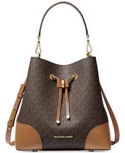 Signature Mercer Gallery Convertible Bucket Leather Shoulder Bag