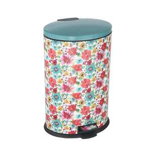 Pioneer Woman 10.5 gal / 40L Stainless Steel Breezy Blossom Oval Kitchen Trash Can
