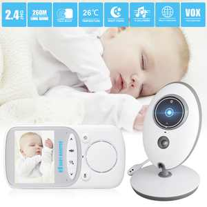 TSV Video Baby Monitor with Digital Camera, 2.4inch LCD Screen Wireless Video Monitor with Temperature Monitor, Night Vision, 960ft Transmission Range, Two-Way Talk & Strong Signal, Built-in 8 Lullabies