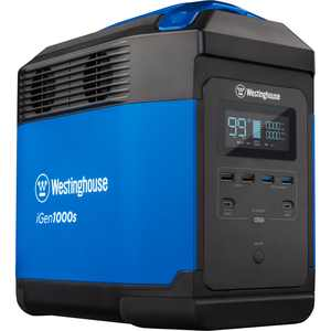 Westinghouse iGen1000s Portable Power Station and Outdoor Solar Generator, 3000 Peak Watts and 1500 Rated Watts, 1008Wh Lithium-ion Battery (Solar Panel Not Included)