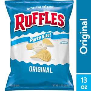 Ruffles Original Potato Chips Party Size, 13 oz