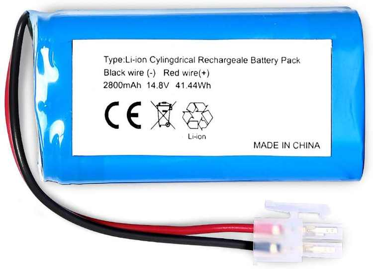 Replacement Battery Compatible with ILIFE A4 A4S A6 V7 Robot Vacuum Cleaner(14.8V 2800mAH)