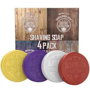 Shaving Soap for Men - 4 Pack Variety, Each Pack 2.5oz