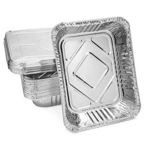 20 Pack Aluminum Foil Pans with Lids, Half-Size Disposable Steam Table Baking Tin Trays for Roasting, Broiling, Cooking, 12.75 x 2.25 x 10.25 in