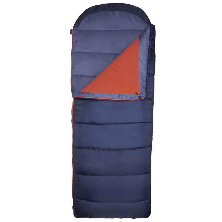 Slumberjack 20F Shadow Mountain Hooded Sleeping Bag with Removeable Fleece Liner, Indigo