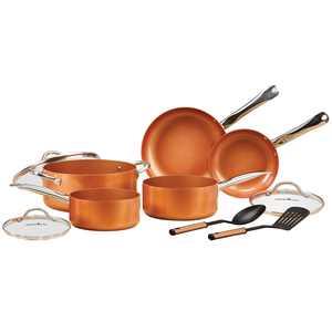 Copper Chef 10 Piece Nonstick Pan Set, with CeramiTech