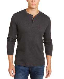 Men's Thermal Henley Shirt, Created for Macy's